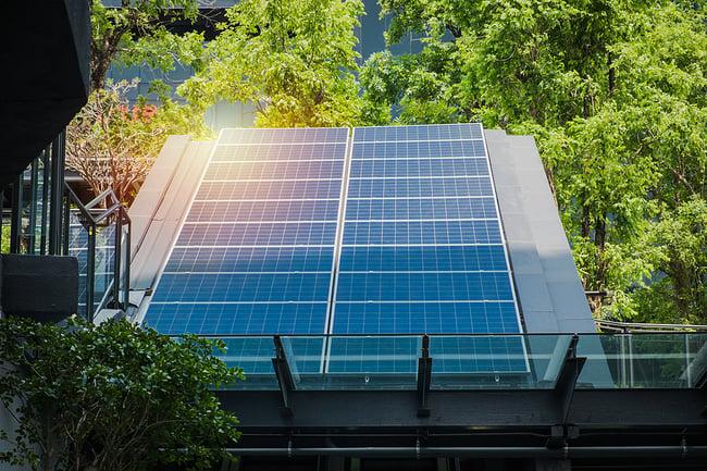 Large industrial solar panel.